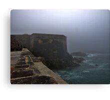 Fort Grosnez in the Fog - Alderney Canvas Print
