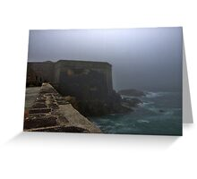 Fort Grosnez in the Fog - Alderney Greeting Card