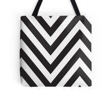 MODERN CHEVRON PATTERN bold monochrome black + white Tote Bag