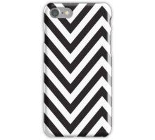 MODERN CHEVRON PATTERN bold monochrome black + white iPhone Case/Skin