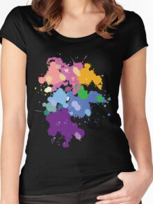 Colorful Splatter  Women's Fitted Scoop T-Shirt