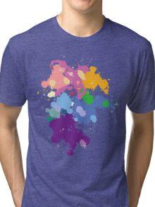 Colorful Splatter  Tri-blend T-Shirt