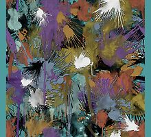 Muted Paint Splatters by TinaGraphics