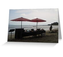 A BEACH Beach BAR Greeting Card