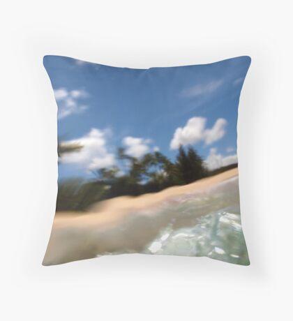 Underwater Distortion Throw Pillow