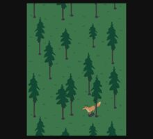 Fox in the woods. One Piece - Short Sleeve