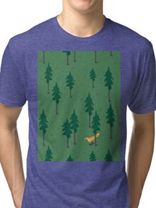 Fox in the woods. Tri-blend T-Shirt