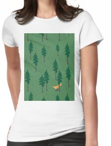 Fox in the woods. Womens Fitted T-Shirt