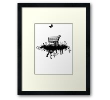 Abandoned Trolley (for light shirts and stickers) Framed Print