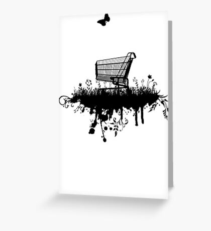 Abandoned Trolley (for light shirts and stickers) Greeting Card