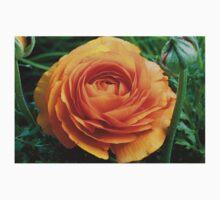 Orange flower One Piece - Long Sleeve