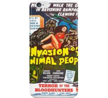 Invasion Of The Animal People iPhone Case/Skin