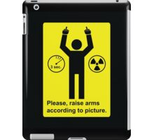 Body Scanner - Raise Arms (and fingers) iPad Case/Skin
