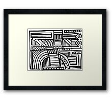 Desando Abstract Expression Black and White Framed Print