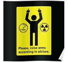 Body Scanner - Raise Arms (and fingers) Poster