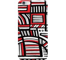 Try Abstract Expression Red White Black iPhone Case/Skin