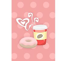 Morning glory, coffee & donuts Photographic Print
