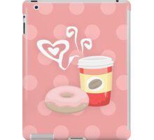 Morning glory, coffee & donuts iPad Case/Skin
