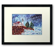 Light after the storm  Framed Print