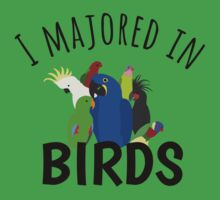 I Majored in Birds Kids Clothes