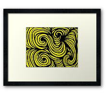 Jelinek Abstract Expression Yellow Black Framed Print