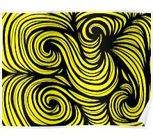 Jelinek Abstract Expression Yellow Black Poster
