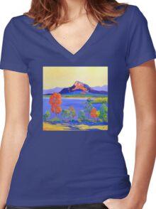 Moogerah Dam [Lake]  Women's Fitted V-Neck T-Shirt