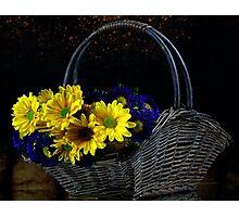 Basketful of flowers Photographic Print