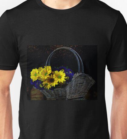 Basketful of flowers Unisex T-Shirt