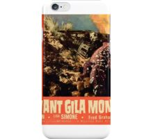 Giant Gila Monster Giant Monster Design Atomic Age iPhone Case/Skin