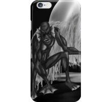 Swamp Monster B&W iPhone Case/Skin
