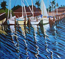 "124. ""The Boats in Little Bay. (Rockport, TX)."" by amyglasscockart"