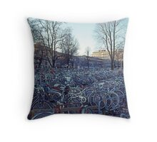 Bike Park Throw Pillow