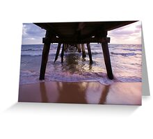 Tumby jetty just before sunset. Greeting Card