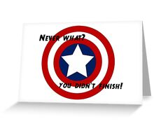 captain america avengers age of ultron quote Greeting Card