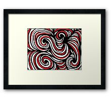 Endorf Abstract Expression Red White Black Framed Print