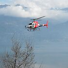 Helicopter working in Lake Como by mozart