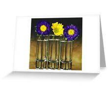 Three vase Greeting Card