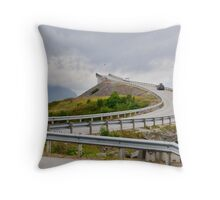 The Highest Bridge on the Atlantic Ocean Road, Norway Seen from Approach to It Throw Pillow