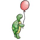 Turtle with balloon by Sophie Baer