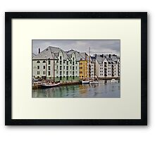 By the Water, Alesund, Norway Framed Print