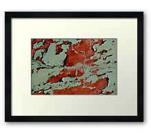 The Paint is a-Peeling Framed Print