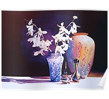 """""""Afterglow"""" Art Glass Watercolor  Poster"""