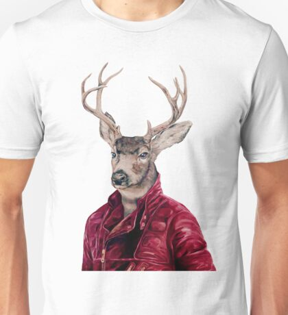 Deer In Leather Unisex T-Shirt