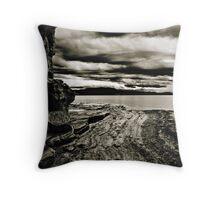 Sandstone foreshore Throw Pillow