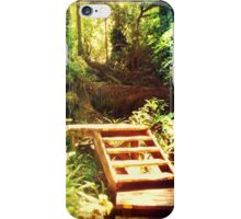 Boardwalk through a Rain Forest iPhone Case/Skin