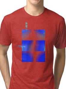 Blue armour plates Tri-blend T-Shirt
