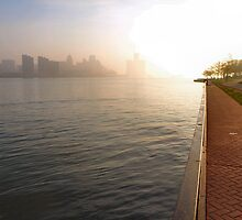 Sunrise - Detroit River by Barry W  King