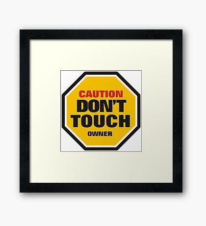 Traffic Rules Framed Print