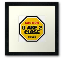 Traffic Sign Framed Print